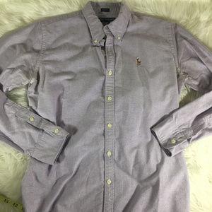 Ralph Lauren Lavender Button Down Size 10